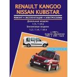 Руководство по ремонту Renault Kangoo / Nissan Kubistar. Модели с 1997 года (+рестайлинг 2003 и 2005 г.), оборудованные бензиновыми и дизельными двигателями
