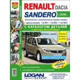 Руководство по ремонту Renault Sandero / Dacia Sandero (+каталог запчастей). Модели с 2008 года выпуска, оборудованные бензиновыми двигателями