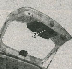 дверь багажного отделения Renault Logan, дверь багажного отделения Renault Sandero