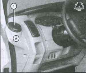 гнездо пепельницы Renault Trafic, гнездо пепельницы Opel Vivaro