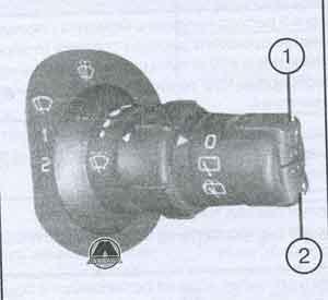 кнопка смены режимов Renault Clio III