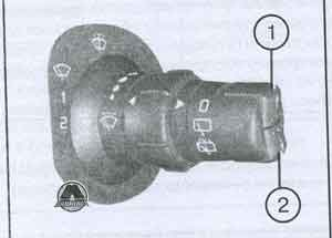 кнопка обнуления счётчика Renault Clio III