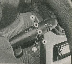 переключатель стеклоочистителей Renault Logan