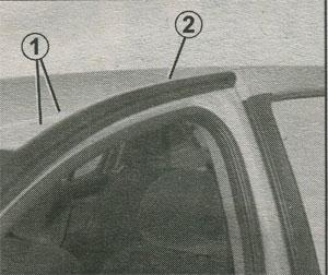 поперечины багажника крыши Renault Logan, поперечины багажника крыши Renault Sandero
