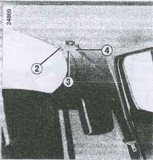 средний ремень безопасности Renault Clio 3