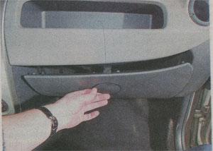 вещевой ящик Renault Sandero, вещевой ящик Dacia Sandero