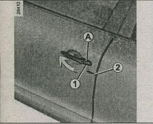 встроенный ключ Renault Fluence