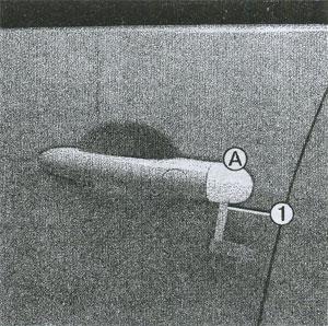 встроенный запасной ключ Renault Scenic
