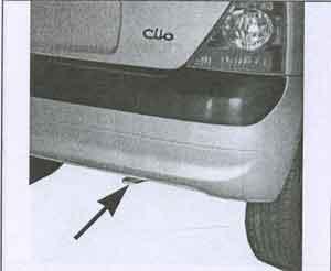 задняя буксировочная проушина Renault Clio, задняя буксировочная проушина Renault Clio II, задняя буксировочная проушина Renault Symbol