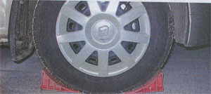 замена колеса Renault Logan
