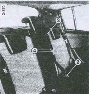 замки ремня безопасности Renault Clio III