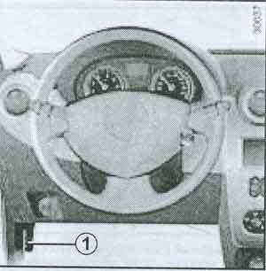 рукоятка открывания капота Renault Duster